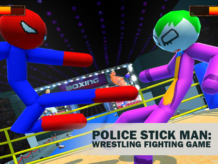 Police Stick Man: Wrestling Fighting Game
