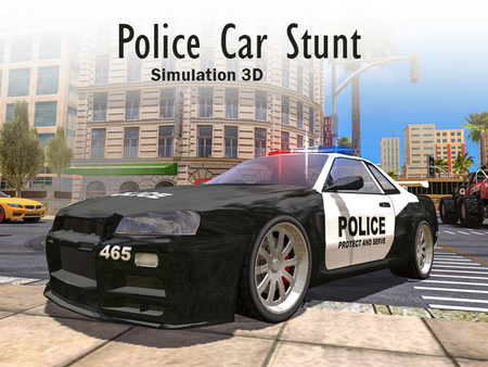 Police Car Stunt Simulation 3D
