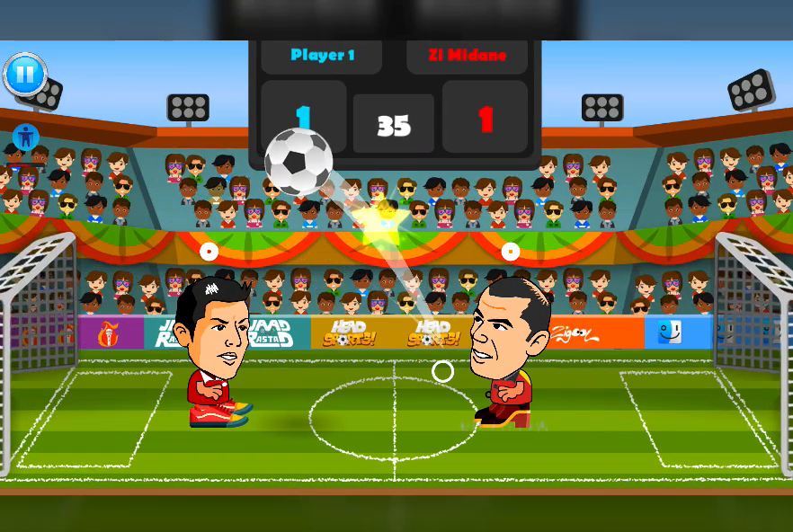 2 Player Head Football Screenshot 2