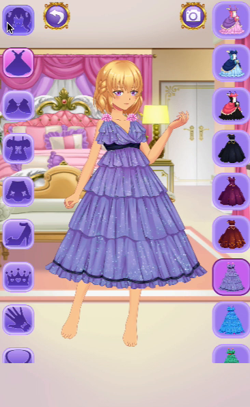 Anime Princess Dress Up Game Screenshot 4